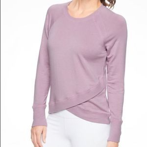 Athleta Lilac Criss Cross Abyss Sweatshirt